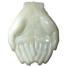 Vintage Avon Milk Glass Hands Soap Dish