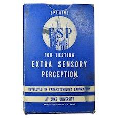 1937 Duke University ESP Testing Cards