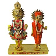 Vintage Lord Vishnu & Guru Statues From India