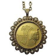1972 Cleopatra Mardi Gras Doubloon Necklace