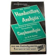1970 Handwriting Analysis Book by M.N. Bunker