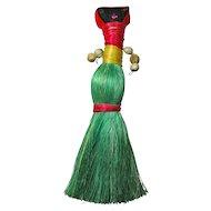 Vintage Handmade Straw Voodoo Doll From Haiti