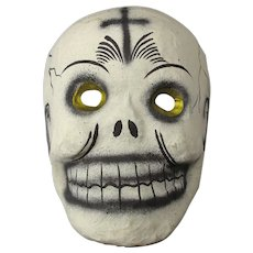 Vintage Day of the Dead Skull Mask from Mexico
