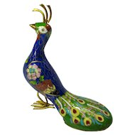 Vintage Cloisonne Peacock from China