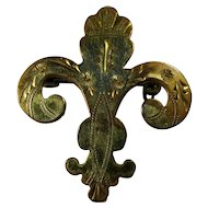 Vintage Gold-Filled Fleur de Lis Brooch by New Orleans Silversmiths