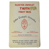 Vintage Aleister Crowley Thoth Tarot Deck (White Box, 1983)