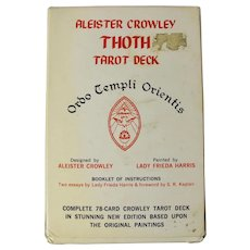 Vintage Aleister Crowley Thoth Tarot Deck (White Box, 1983)