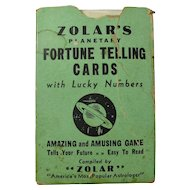 1942 Zolar's Planetary Fortune Telling Cards