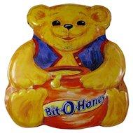 Vintage Bit-O-Honey Teddy Bear Candy Tin