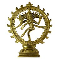 Vintage Hindu God Shiva Statue From India