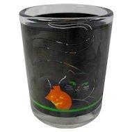Vintage Halloween Black Cat Votive Candle Holder