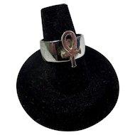 1970s Ankh Ring Size 8.5