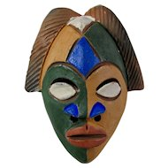 Vintage Handmade African Clay Mask