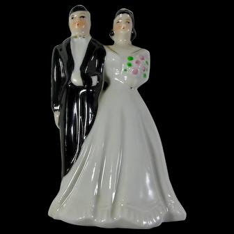 1950s Porcelain Wedding Cake Topper From Japan