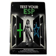 1969 TEST YOUR ESP Book by Martin Ebon / Duke University Institute For Parapsychology