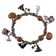 Vintage Halloween Charm Bracelet