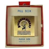 Vintage New Orleans Bourbon Street Pillbox In Original Packaging