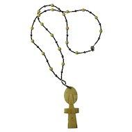 Vintage Handmade Ashanti Fertility Necklace