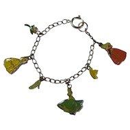 Vintage Disney Princesses Enamel Charm Bracelet