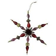 Vintage Purple Starburst Christmas Ornament
