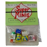 Vintage Super Minis Dollhouse Food Products In Original Package - Free U.S. Shipping