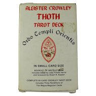 Vintage Aleister Crowley Thoth Tarot Deck (White Box, 1987)