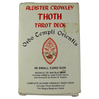 Vintage Aleister Crowley Thoth Tarot Deck (White Box, 1987)