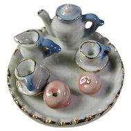 Vintage Tiny Porcelain Tea Tray