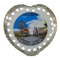 1950s Las Vegas Heart-Shaped Porcelain Curio Dish