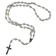 Vintage Lucite Pearl Rosary