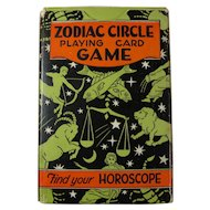 1931 Zodiac Circle Playing Card Game