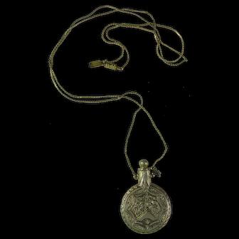 Vintage 1928 Brand Perfume Bottle Necklace