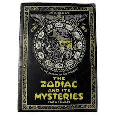 "1931 ""The Zodiac And Its Mysteries"" Astrology Booklet"