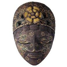 Vintage Balinese Dewi Sri Goddess Mask