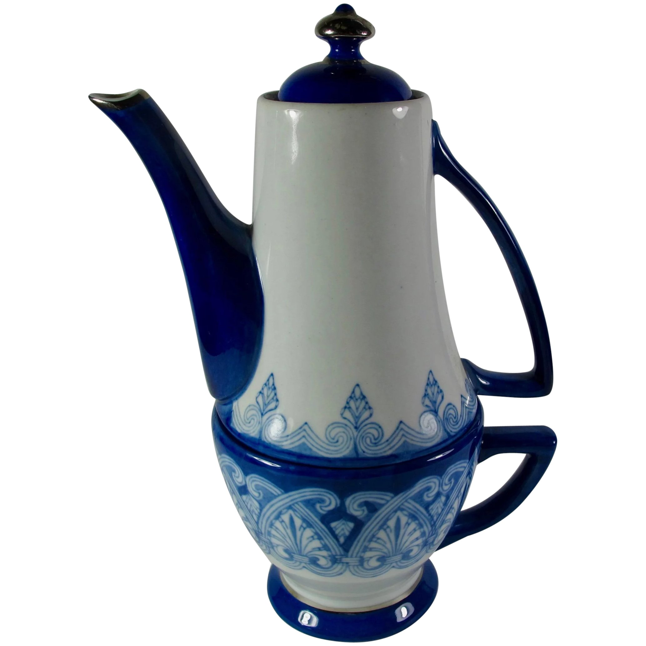 Blue and White Tea Pot  Bombay made in china