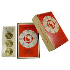 Vintage I Ching Fortune Telling Cards With Yin/Yang Coins