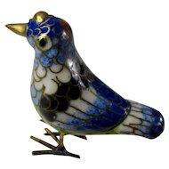 Vintage Blue & Gold Cloisonne Bird