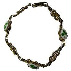 Vintage Lucky Clover & Knot Bracelet