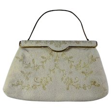 WEDDING SALE! 40% OFF 1940s DeLill Ivory Beaded Clutch Purse From France