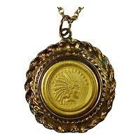 1907 Indian Head Ten-Dollar Coin Necklace