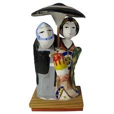 1939 Yosakoi Matsuri Star-Crossed Couple Ornament From Japan