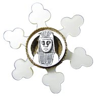 SALE! 1920s Celluloid King Tut Egyptian Revival Brooch