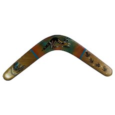 Hand-Painted Wooden Boomerang From Australia
