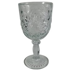 Cut Glass Chalice With 8-Pointed & 16-Pointed Stars