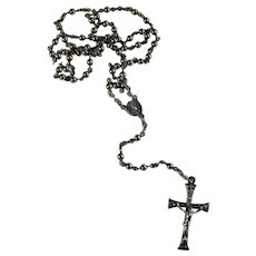 Sterling Silver Child's Rosary From Italy