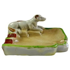 1950s Ceramic Greyhound Dog Ashtray