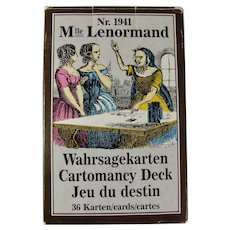1986 Mlle. Lenormand Cartomancy Fortune Telling Deck
