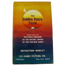Golden Dawn Tarot Cards First Printing 1978