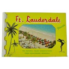 1960s Fort Lauderdale, Florida Souvenir Postcard Book