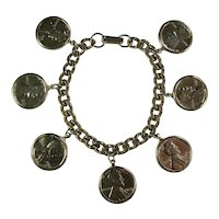 Silver-Plated Lucky Penny Charm Bracelet